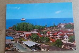FORT DE FRANCE - Vue Sur La Savane Et La Baie Des Flamands - Le Paquebot FRANCE Dans La Rade  ( Martinique ) - Fort De France