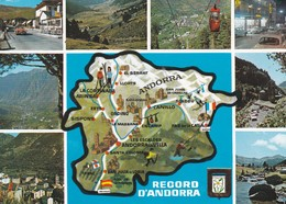 CPM 10X15 . RECORD D'ANDORRA . Multi-vues Dont Carte Géographique + Timbre 1.20F 1979 C.E.P.T. - Andorra