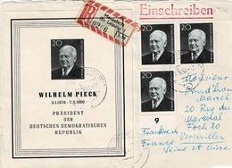 TP N° 500 Et Bloc N°10  ( Y&T ) Sur Devant D' Enveloppe De Meuselwitz En Recommandé Pour Versailles - [6] République Démocratique