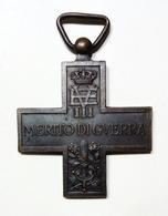 WWI - CROCE Al MERITO Di GUERRA (Vittorio Emanuele III) - Italia