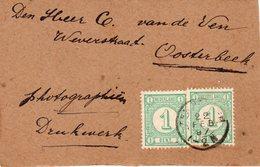 22 FEB 97 Voorfront Van Drukwerk Met Kleinrond TEN BOER Naar Oosterbeek Met 2x NVPH31 - Periode 1891-1948 (Wilhelmina)