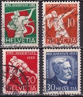 Switzerland / Schweiz / Suisse : 1932 Pro Juventute : Volkssport Michel 262 / 265 - Pro Juventute
