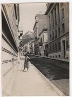 Photo Originale GRECE Athènes Une Rue Au Fond Le Lycabette 1929 - Places