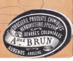 Entier Postal Aubenas Ardèche 1878 Type Sage Brun Produits Chimiques Droguerie Herboristerie Épicerie - 1876-1878 Sage (Type I)