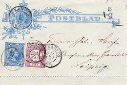 11 OCT 97 Postblad G5 Met 1. Rand  En Kleinrond KAMPEN Naar Leipzig Met Bijfrankering NVPH33 En 35 - Periode 1891-1948 (Wilhelmina)