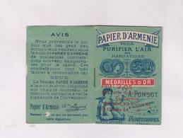 PETIT CARNET AVEC PAPIER D ARMENIE (date Inconnue) - Perfume Cards