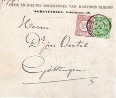 2 APR 98 Uitsnede Van Pakket  Van 's-Gravenhage Naar Göttingen Met Combinatiefrankering NVPH33 En 40 - Periode 1891-1948 (Wilhelmina)