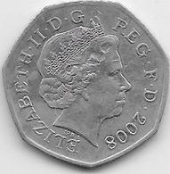 Grande Bretagne - 50 Pence - 2008 - 1971-… : Monnaies Décimales