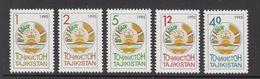 1995 Tajikistan Natl. Arms Complete Set Of 5 MNH - Tadjikistan