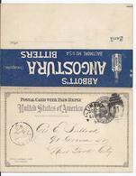 USA (002249) Ganzsache UY1, Gelaufen Boltimore Am 20.10.1895 - 1847-99 General Issues