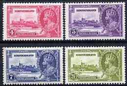 Newfoundland 1935 KG5 Silver Jubilee Set Of 4 Mounted Mint SG 250-53 CASTLES - 1908-1947