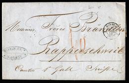 A5654) Frankreich France Brief Marseille 10.3.1853 In Die Schweiz - 1853-1860 Napoléon III.