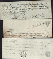 Lot De 3 Traites France 1793 + An 11 1803 Et 1821 Avec Empreintes Fiscales Différentes A Sec Et Imprimées - 1800 – 1899