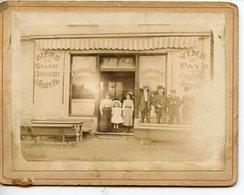 PHOTOGRAPHIE ANCIENNE SUR CARTON FORT VERS 1900 NANCY ? RESTAURANT BIERE DE LA GRANDE BRASSERIE J.GREFFE & FILS - Lieux