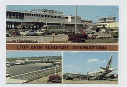 69-LYON BRON- AIRPORT / FLUGHAFEN / AEROPORT ECRITE 1977 --RECTO / VERSO - B38 - Autres