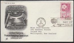 UN - NEW ZEALAND 1975 PEACE KEEPING FDC ARTCRAFT CACHET - New York -  VN Hauptquartier