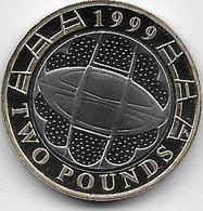 Grande Bretagne - 2 Pounds - 1999 - Proof - 1971-… : Monnaies Décimales