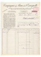 FOURNITURE DE CHARBON COMPAGNIE DES MINES  De L'ESCARPELLE  FLERS - EN - ESCREBIEUX (NORD) 1937 - France