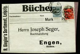 A5656) DR Infla Adressträger Schwere Drucksache Leipzig 23.8.23 Mit Perfin - Deutschland