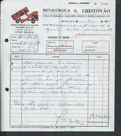 PORTUGAL FACTURE DE 1985 METALURGICA S CRISTOVAO A BRAGA : - Portugal
