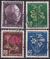 Switzerland / Schweiz / Suisse : 1948 Pro Juventute : Blumen Michel 514 / 517 - Pro Juventute