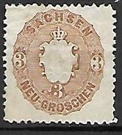 SAXE   -   1863 .  Y&T . N° 17 (*). - Saxony