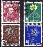 Switzerland / Schweiz / Suisse : 1949 Pro Juventute : Blumen Michel 541 / 544 - Pro Juventute