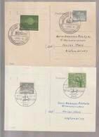 B 751) BRD 1960/1962 2 Stempel (23) Leer: Ostfriesland Schau, Gastliche Küste - Ferien & Tourismus