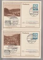 B 749) BRD 1964 2 Stempel 41 Duisburg Profil Unserer Stadt Duisburger Woche '64 (auf BiPo Harz) - Ferien & Tourismus