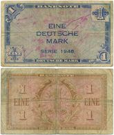 BRD 1948, 1 Mark, Bank Deutscher Länder, Geldschein, Banknote - [ 7] 1949-… : RFA - Rep. Fed. Tedesca