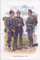 Ingenieurtruppen 1913 - Gemäldekarte Sign. Hoffmann München - 100 Jahrfeier Der KB Ingenieurtruppen  -  AK-7992 - Régiments