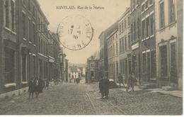 AUVELAIS : Rue De La Station - Cachet De La Poste1920 - Sambreville