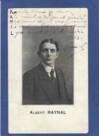 Autographe Signature à L'encre Sur Carte Postale Albert RAYNAL Cirque Circus - Autographes