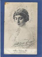 Autographe Signature à L'encre Sur Carte Postale Miss Victoria Fer Cirque Circus - Autographes