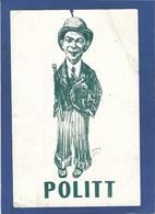 Autographe Signature à L'encre Sur Carte Postale Politt Cirque Circus - Autographes