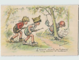 (2970) Germaine Bouret ... En Patrouille . L'ennemi Dévoile Ses Batteries (GB 13) - Bouret, Germaine