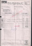 PORTUGAL FACTURE DE 1988 CARLOS AZEVEDO FER MACIEIRA : - Portugal