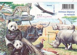 France Neuf **  2009  Bloc N° 128   Faune. Nature. Animaux Disparus Ou Menacés - Blocs & Feuillets