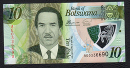 BOTSWANA : 10 Pula - 2018  - P35 Polymer - UNC - Botswana