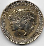 Grande Bretagne - 25 New Pence - 1981 - Doré - 1971-… : Monedas Decimales