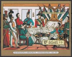 Manama 1971 Bf. 154A Napoleons Memorial Anniversary (1821-1971) Sheet Perf. CTO - Manama