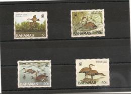 BAHAMAS  Faune:  Canard/Duck Année 1988 N°Y/T : 659/62**  Côte : 20,50 € - Bahamas (1973-...)