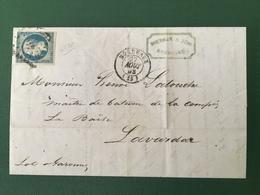 France - Présidence N°10 Sur Lettre De Bordeaux Pour Lavardac - 2 Photos - (B2154) - 1852 Louis-Napoléon