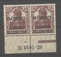 Allenstein,4a,3605.20+III,xx,gep. - Deutschland