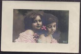 CPA Enfant 2 Jolie S Fillette S élégante - Pretty Girl - Photo - Portraits