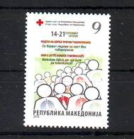 Macedonia 2018 Y Charity Stamp Tuberculosis MNH - Macedonië