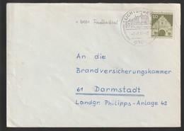B 734) BRD 1967 Stempel 6101 Lichtenberg Im Odenwald - Geographie