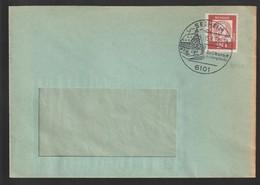 B 733) BRD 1964 Klarer Stempel 6101 Seeheim Luftkurort An Der Bergstraße (Fensterumschlag) - Geographie