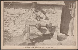 Uncle Tom Cobley In The Stocks, Widecombe In The Moor, Devon, C.1920 - Middleweek Postcard - England