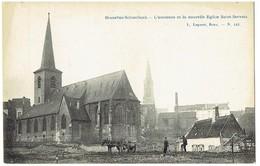 BRUXELLES - SCHAERBEEK - L' Ancienne Et La Nouvelle Eglise Saint Servais - L. Lagaert N° 145 - Schaerbeek - Schaarbeek